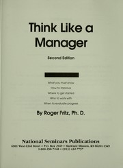 Cover of: Think like a manager | Roger Fritz