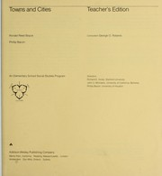 Cover of: Towns and cities