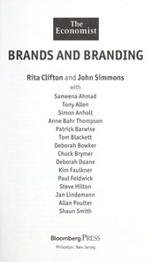 Cover of: Brands and branding