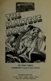 Cover of: The Maltese dog | Anne Capeci