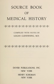 Cover of: Source book of medical history