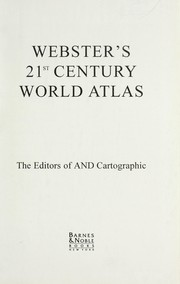 Cover of: Websters Century World Atlas | And Cartographic