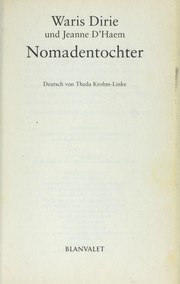 Cover of: Nomadentochter