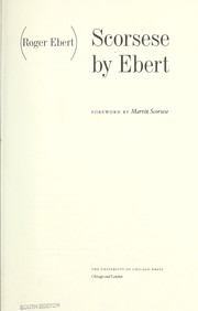 Cover of: Scorsese by Ebert