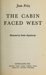 Cover of: The cabin faced west