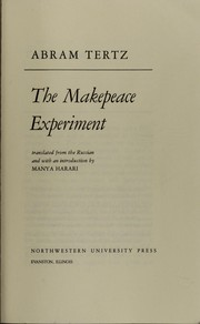 Cover of: The Makepeace experiment | Abram TertНЎs