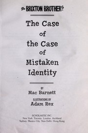 Cover of: The case of the case of mistaken identity
