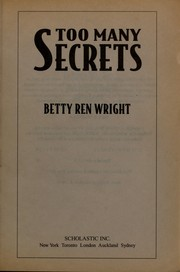 Cover of: Too many secrets
