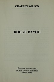 Cover of: Rouge bayou