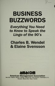 Cover of: Business buzzwords