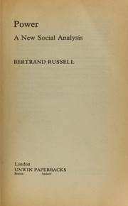 Cover of: Power | Bertrand Russell