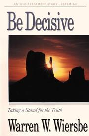 Cover of: Be decisive: Leader's Guide (Be Series)