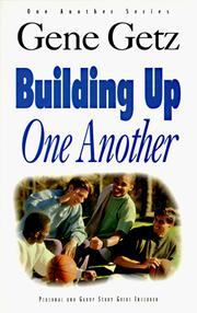 Cover of: Building Up One Another (Getz, Gene a. One Another Series.)