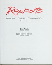 Cover of: Rapports