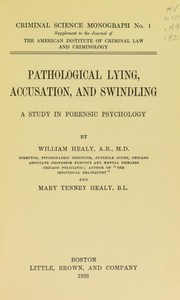 Cover of: Pathological lying, accusation, and swindling
