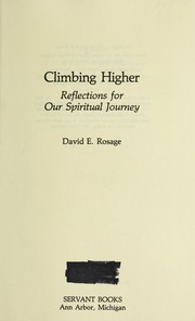 Cover of: Climbing higher : reflections for our spiritual journey |