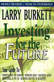 Cover of: Investing for the future