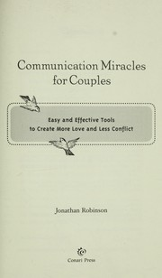 Cover of: Communication miracles for couples