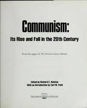Cover of: Communism | edited by Richard E. Ralston ; with an introduction by Earl W. Foell.