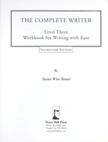 Complete writer by S. Wise Bauer