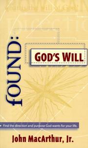 Cover of: Found: God's Will