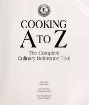 Cover of: Cooking A to Z | Jane Horn
