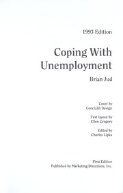 Cover of: Coping With Unemployment | Brian Jud