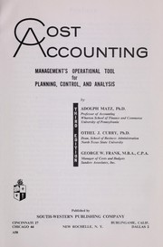 Cost accounting by Adolph Matz