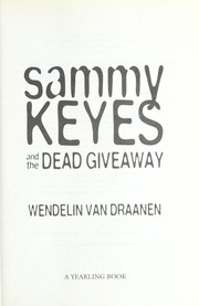 Cover of: Sammy Keyes and the dead giveaway