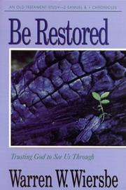 Cover of: Be Restored