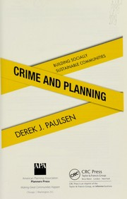 Cover of: Crime and planning