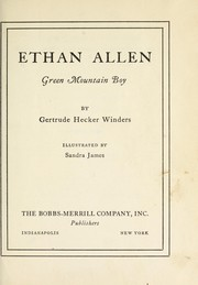 Cover of: Ethan Allen, Green Mountain boy