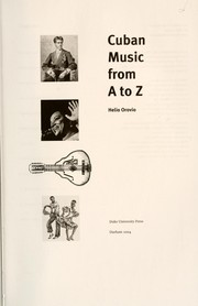 Cover of: Cuban music from A to Z