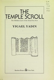 Cover of: The Temple scroll