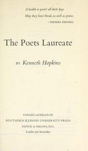 The poets laureate by Hopkins, Kenneth.