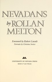 Cover of: Nevadans