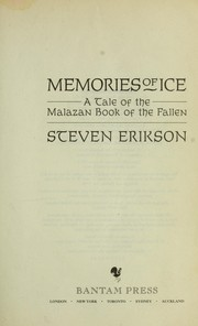 Cover of: Memories of ice