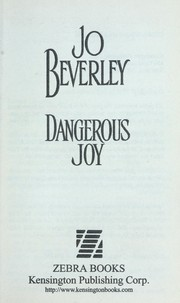 Cover of: Dangerous joy | Jo Beverley