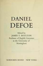 Cover of: Daniel Defoe