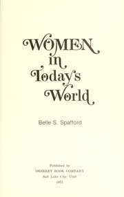 Cover of: Women in today's world
