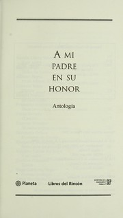 Cover of: A mi padre en su honor | Lo pez Velarde