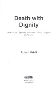 Cover of: Death with dignity