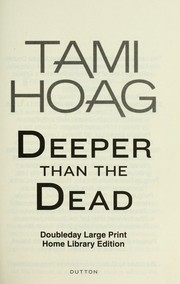 Cover of: Deeper than the dead