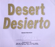 Cover of: Desert = | Daniel Moreton