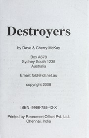 Cover of: Destroyers | Dave McKay