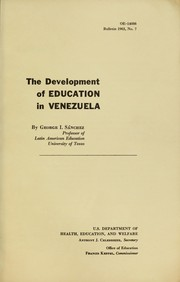Cover of: The development of education in Venezuela