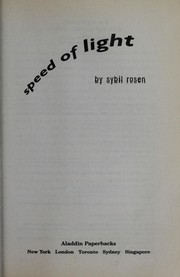 Cover of: Speed of light