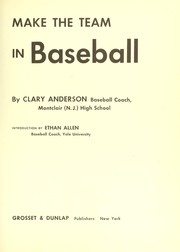 Cover of: Make the team in baseball