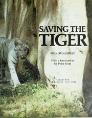 Cover of: Saving the tiger
