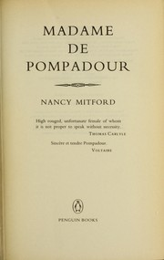 Cover of: Madame de Pompadour
